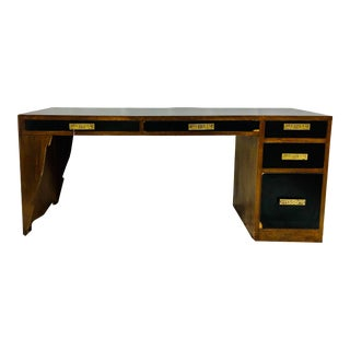 Vintage Hollywood Regency Executive Desk For Sale
