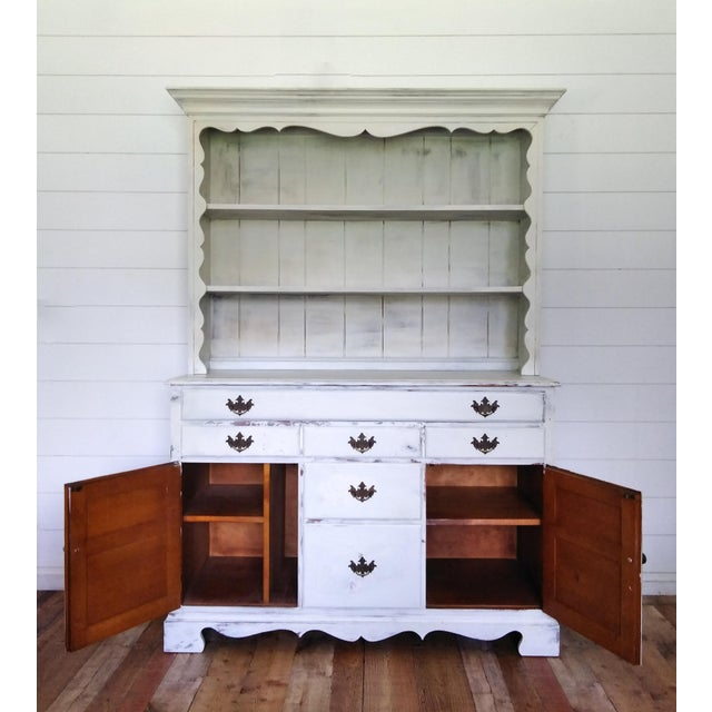 French European Farmhouse Buffet With Hutch For Sale - Image 3 of 6