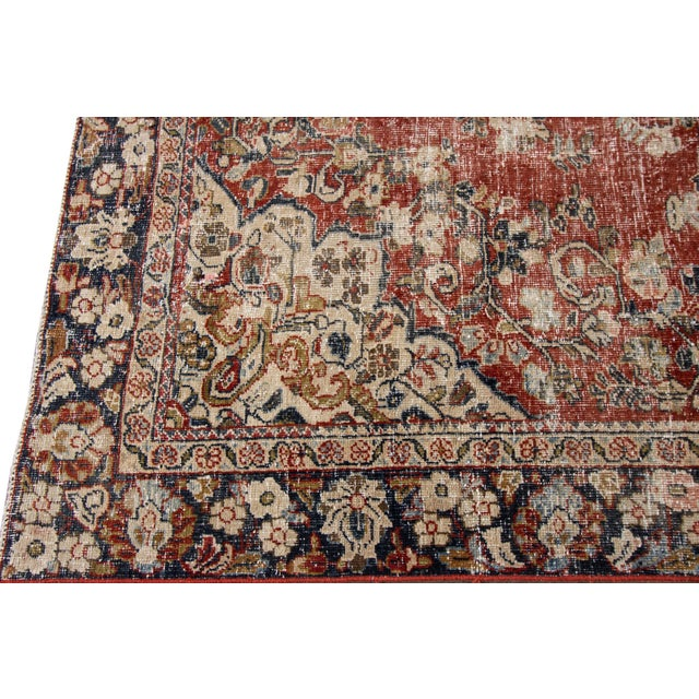 "Apadana-Antique Persian Distressed Rug, 6'6"" X 9'1"" For Sale In New York - Image 6 of 10"