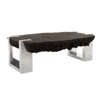Modernist Designer Lava Stone Cocktail Coffee Table by Phillips Collection For Sale