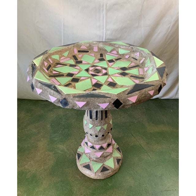 Vintage Malibu Tile Bird Bath For Sale In Los Angeles - Image 6 of 13