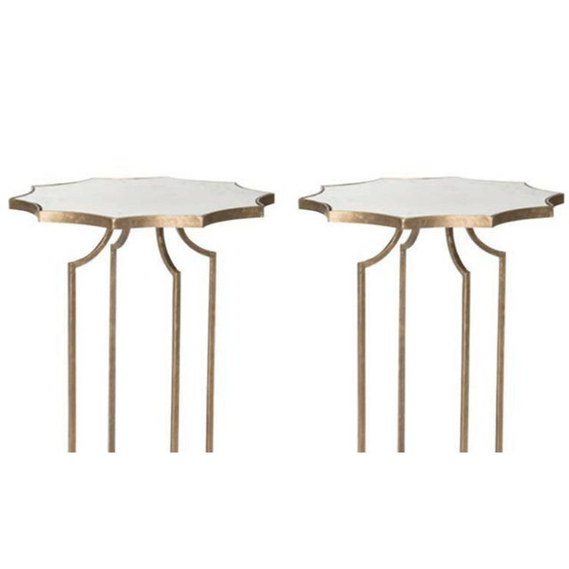 Charming Pair of Diminutive Drinks Tables in the Style of Maison Baguès - Image 2 of 3