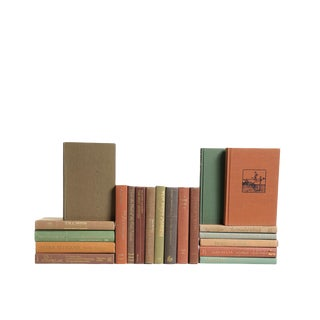 Retro Earthtone : Set of Twenty Decorative Books