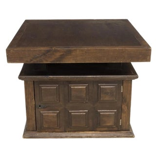 Spanish Baroque Style Paneled Walnut Convertible Low Table Chest For Sale