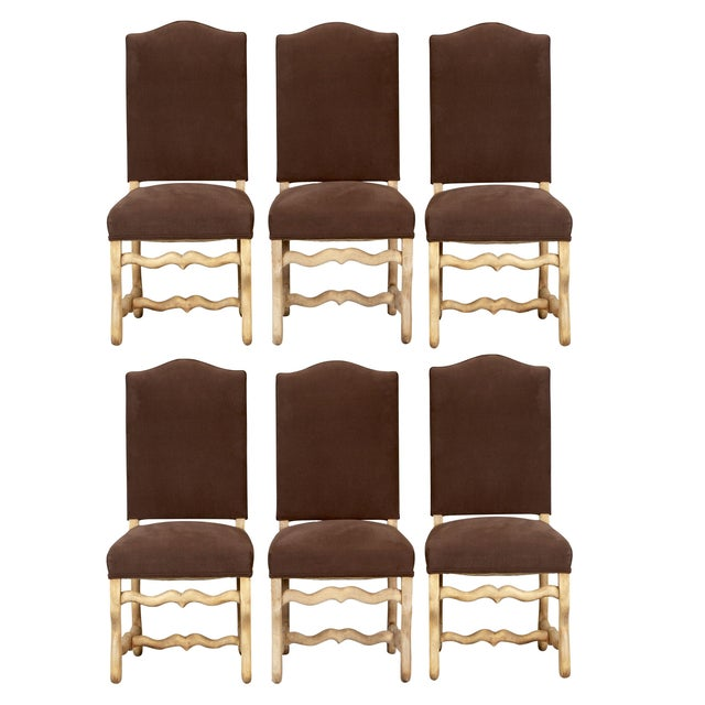 French Os Du Mouton Dining Chairs - Set of 6 - Image 1 of 8