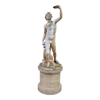 Greco-Roman Style Terracotta Garden Statue For Sale