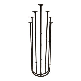 1990s Tall Iron Standing Candelabra For Sale