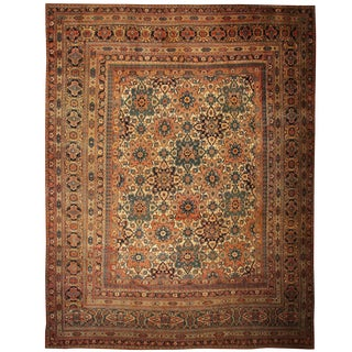 Antique Persian Khorassan Rug - 17′ × 21′3″ For Sale