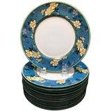 Image of 1920s Art Deco Royal Doulton Porcelain Service Dinner Plates - Set of 12 For Sale