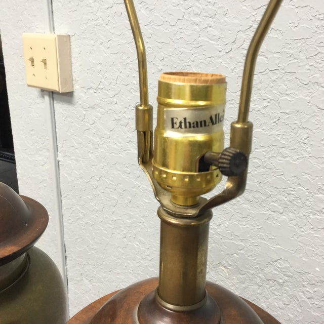 Wonderful pair of mid-century lamps! Mid century Hollywood Regency style. These were made by Ethan Allen. Super heavy...