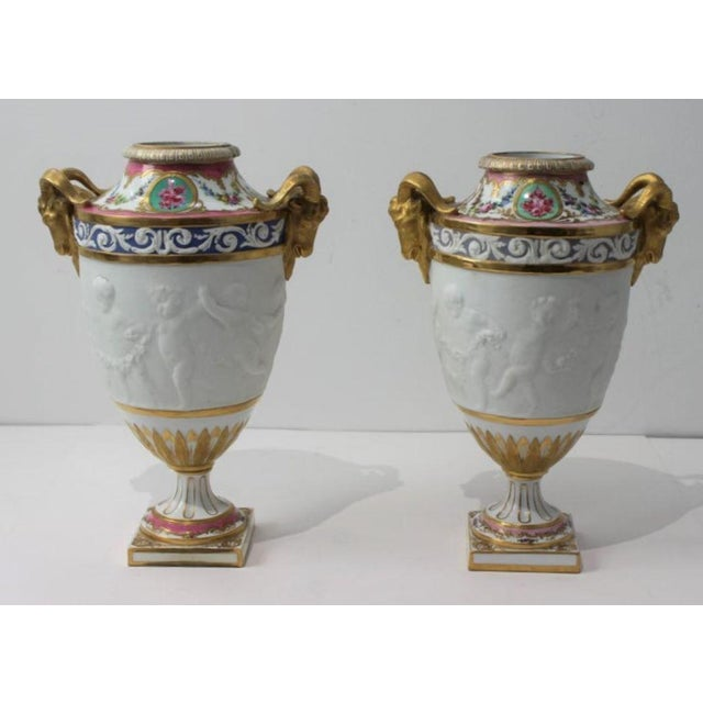 Antique 19th Century Sevres Style Urns - a Pair For Sale - Image 13 of 13