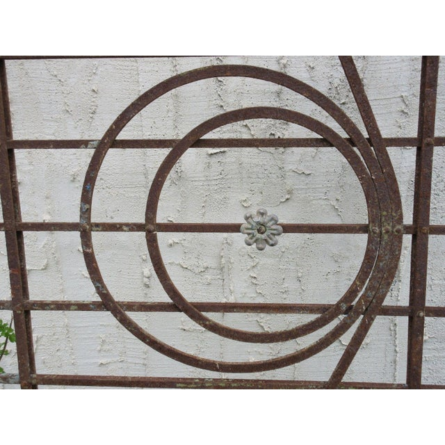 Antique Victorian Iron Gate or Garden Fence Element For Sale In Philadelphia - Image 6 of 7