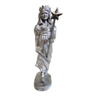 Michael Ricker Pewter Angel Statue For Sale