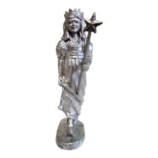 Michael Ricker Pewter Angel Statue