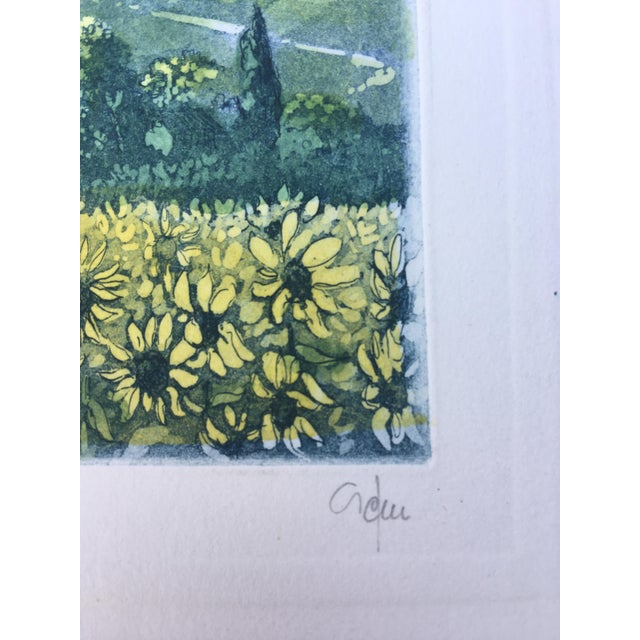 Paper Vintage Italian Watercolor Print For Sale - Image 7 of 8