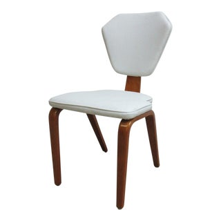 Vintage Thonet Mid-Century White Bentwood Dining Room Chair