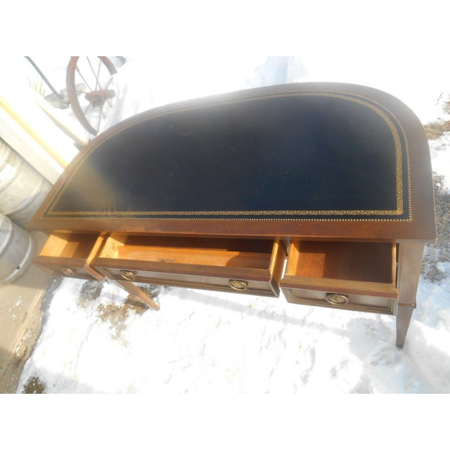 Sligh Leather Top Ladies Writing Desk & Chair For Sale - Image 6 of 11