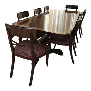 Baker Regency Dining Room Table and ChairS For Sale