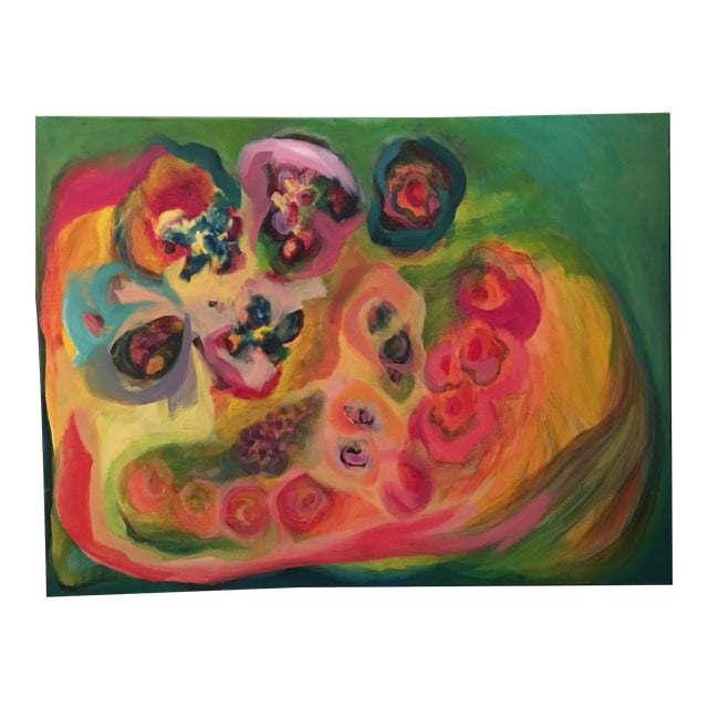 Original Acrylic Floral Painting - Image 1 of 4