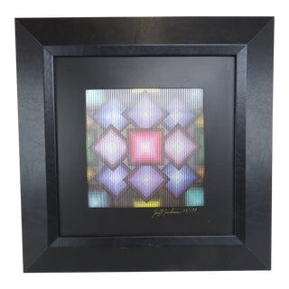"Vintage Jeff Johnson Kinetic Holographic Illusion Art - ""Spectrum"" For Sale"
