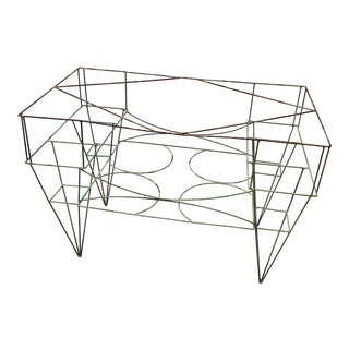 Steel Florist Garden Planter Stand With Genuine Patina For Sale