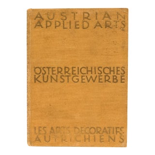 Austrian Applied Arts Book For Sale
