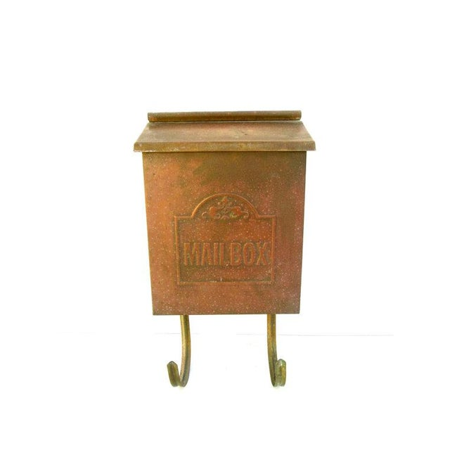Vintage Copper Wall Mount Mailbox - Image 2 of 5