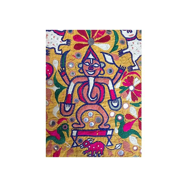 Traditional Indian Embroidered Banner For Sale - Image 3 of 5