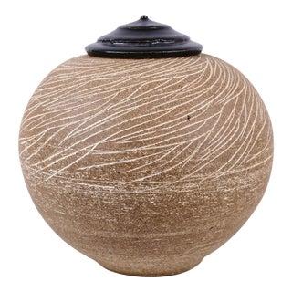 "David Shaner ""Grasses"" Stoneware Covered Jar For Sale"