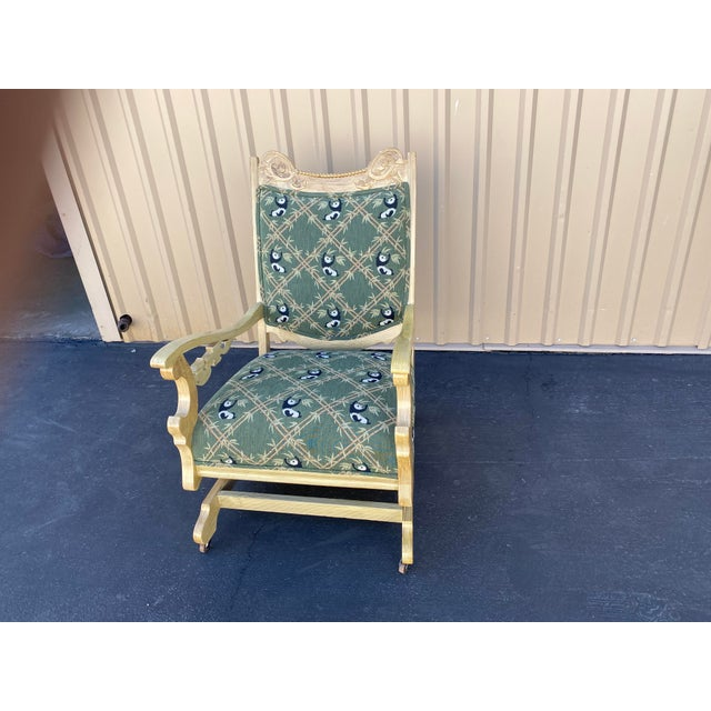 19th Century Refinished Rocking Chair For Sale - Image 10 of 10