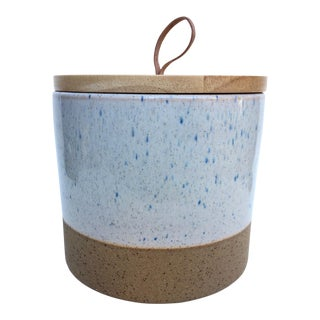 Large Speckled Stoneware Ojai Canister For Sale