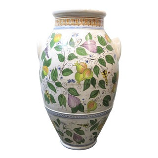 Italian Majolica Floor Vase For Sale