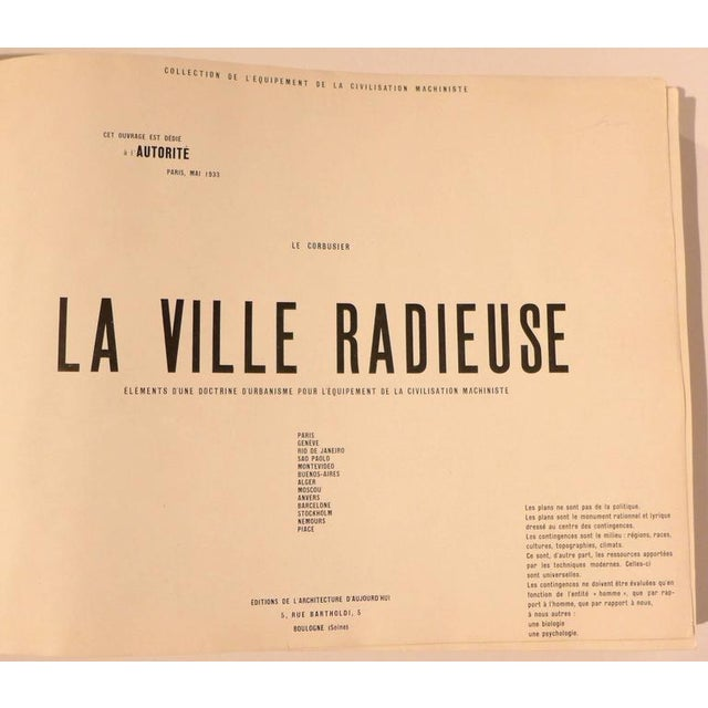 Le Corbusier Le Corbusier Book with Inscription For Sale - Image 4 of 10