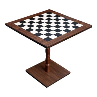 Vintage Checkers/Chess Game Table or Side Table For Sale