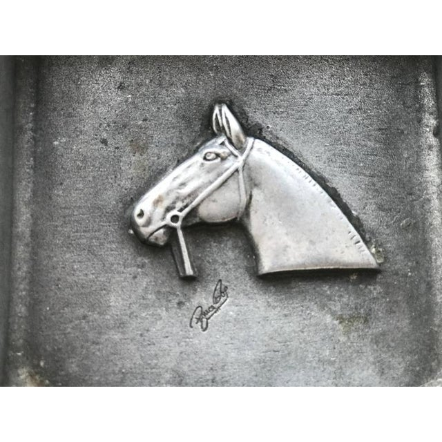 Mid-Century Modern Equestrian Theme Ashtray in Pewter For Sale In New York - Image 6 of 10