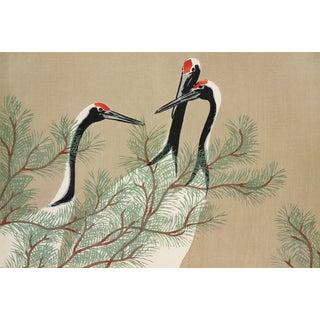 Japanese Cranes Print For Sale
