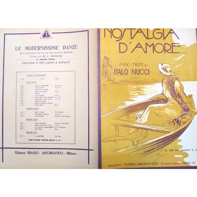 1925 Italian Music Sheet Love's Memory For Sale - Image 5 of 6