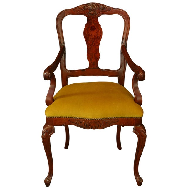 Italian Rococo Arm Chair with Inlaid Marquetry - Image 2 of 8