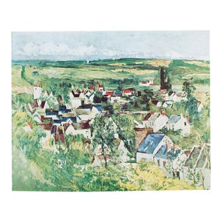 1950s Cezanne, View of Auvers First American Edition Lithograph For Sale