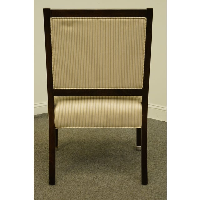 Wood Vintage Lexington Furniture Nautica Home Collection Upholstered Accent Arm Chair For Sale - Image 7 of 10