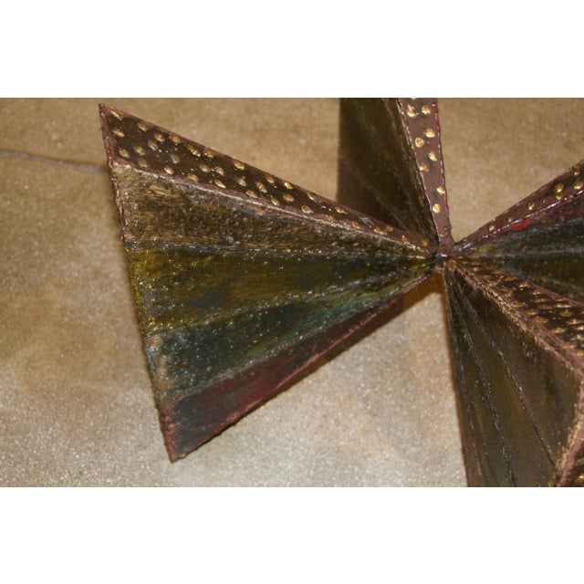 Brown Paul Evans Brutalist Steel Coffee Table For Sale - Image 8 of 13