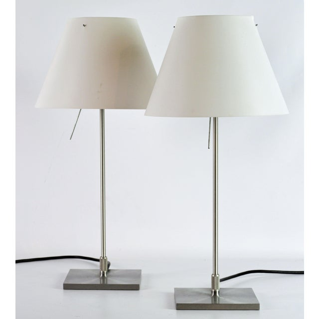 Vintage Paolo Rizzato Luceplan 'Costanza' Table Lamps - a Pair For Sale - Image 10 of 10