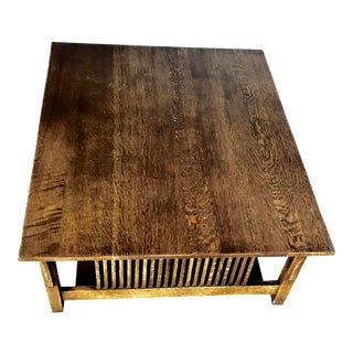Vintage Stickley Coffee Table For Sale