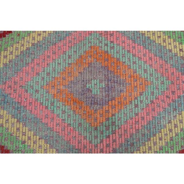 Anatolian Kilim Turkish Embroidery Rug For Sale - Image 6 of 13