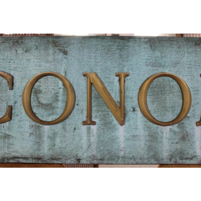 Early 20th Century Early 20th Century Antique Economy Sign For Sale - Image 5 of 9