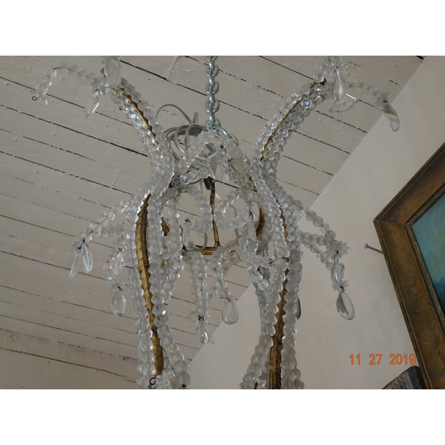 1900 - 1909 French Crystal Chandelier For Sale - Image 5 of 12