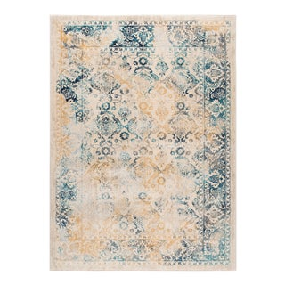 Journey Nicola Traditional Floral Cream Rectangle Area Rug - 5' x 8' For Sale