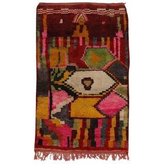 Vintage Berber Tribes of Morocco Rug - 5′3″ × 8′1″ For Sale