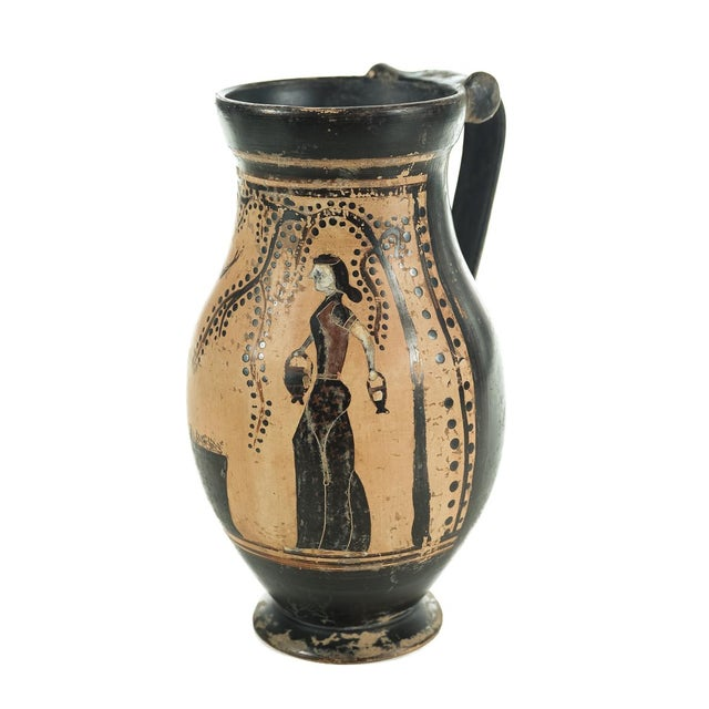 Ancient Greece Pottery Vase with Black Figure - Image 3 of 9