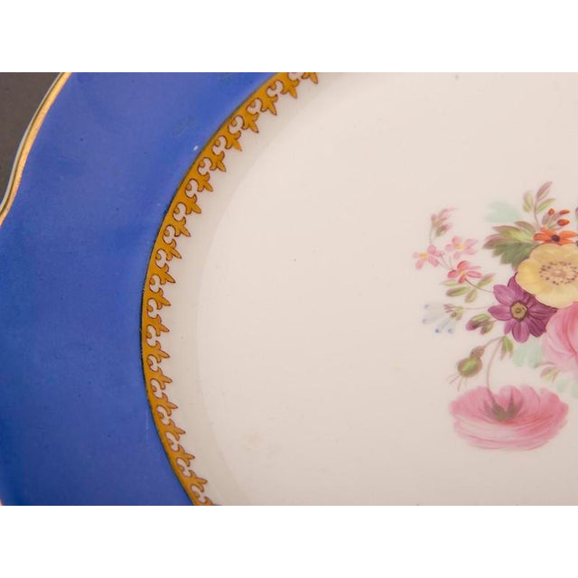 19th Century Antique English Sèvres Style Copeland Dessert Salad Plates - Set of 6 For Sale - Image 9 of 10